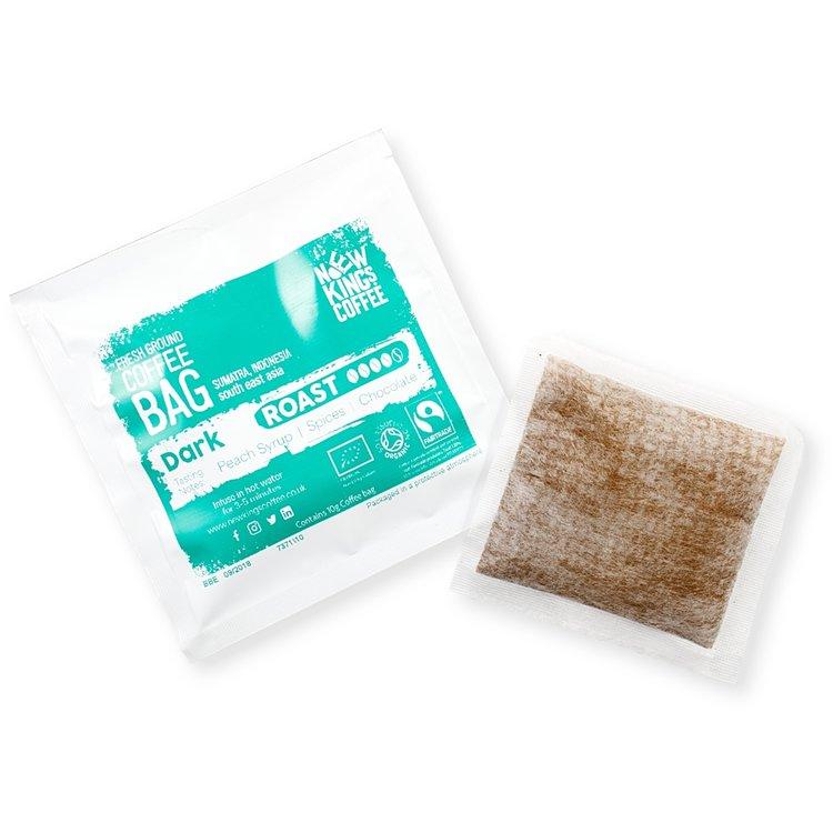 30 Bags Organic Indonesian Dark Roast Instant Ground Coffee Bags (30 Coffee Bags)