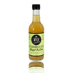 7 Organic Ginger & Lime Kombucha Fermented Drink (7 x 330ml)