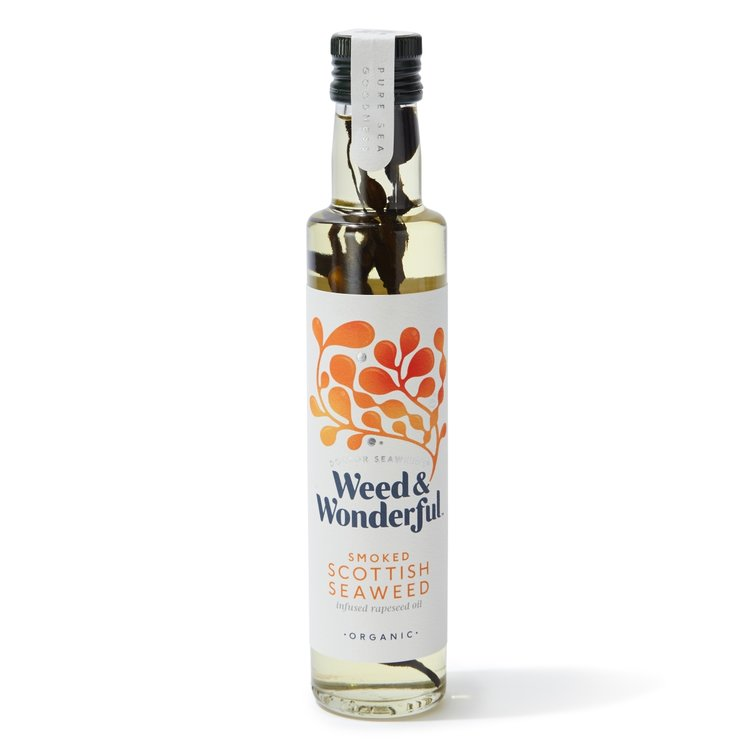 Organic Smoked Scottish Seaweed Infused Rapeseed Oil 250g