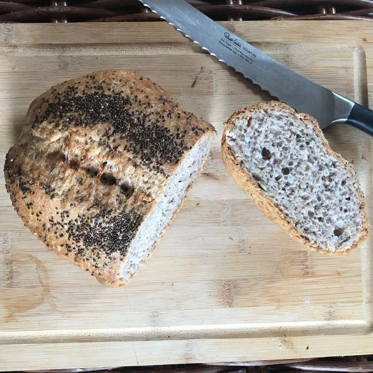 Box of 4 'Bold Buckwheat' Gluten-Free Sourdough Fresh Bread Loaves (4 x 375g)