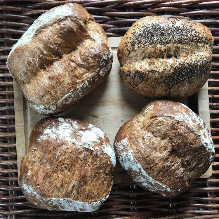 Box of 4 Mixed Gluten-Free Sourdough Fresh Bread Loaves (4 x 375g)