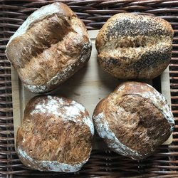 Box of 4 Mixed Gluten-Free Sourdough Fresh Bread Loaves (4 x 375g)