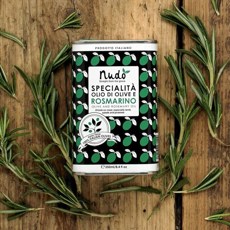 Olive Oil Stone Ground with Rosemary 250ml Tin (For Meats, Pasta & Potatoes)