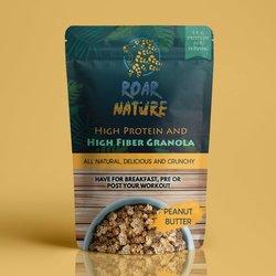 Peanut Butter High Protein & High Fibre Granola 400g (Vegan)