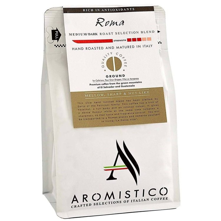 Italian Ground 'Roma' Medium/Dark Selection Coffee Blend 200g by Aromistico