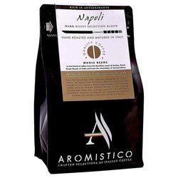 Italian Whole Bean 'Napoli' Dark Roast Selection Coffee Blend 200g by Aromistico