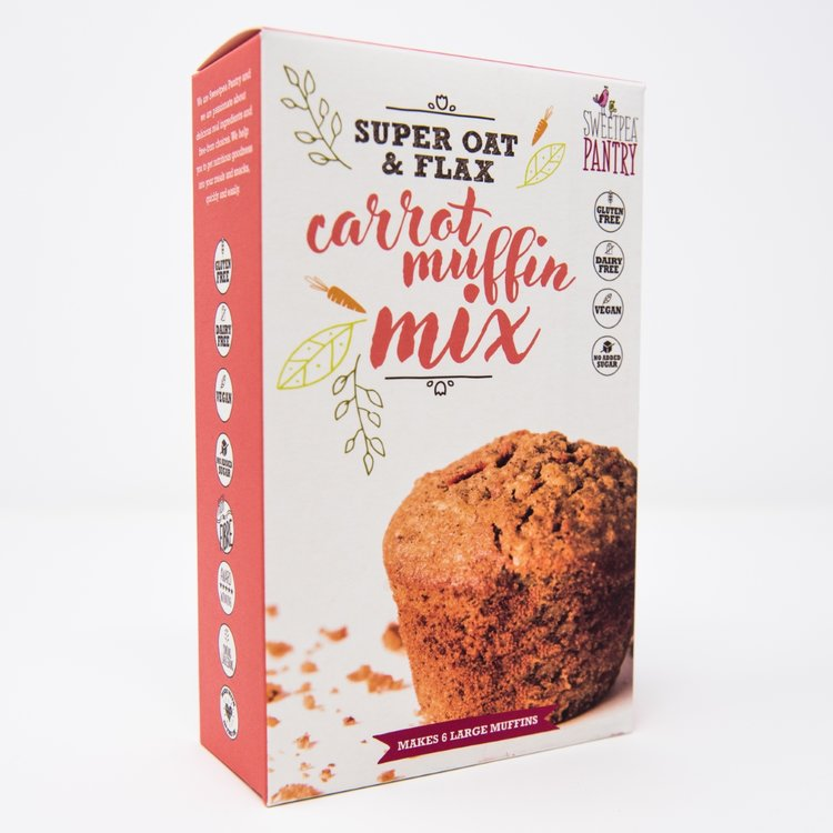 Carrot Muffin Cake Baking Mix With 'Super Oat' & Flax 220g (Gluten Free)