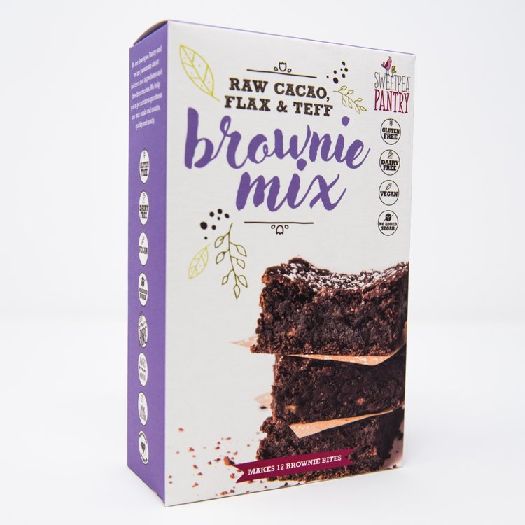 Chocolate Brownie Baking Mix With Raw Cacao, Flax & Teff Flour 200g (Gluten Free)