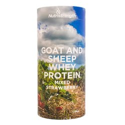 1kg Mixed Strawberry Goat & Sheep Whey Protein Powder