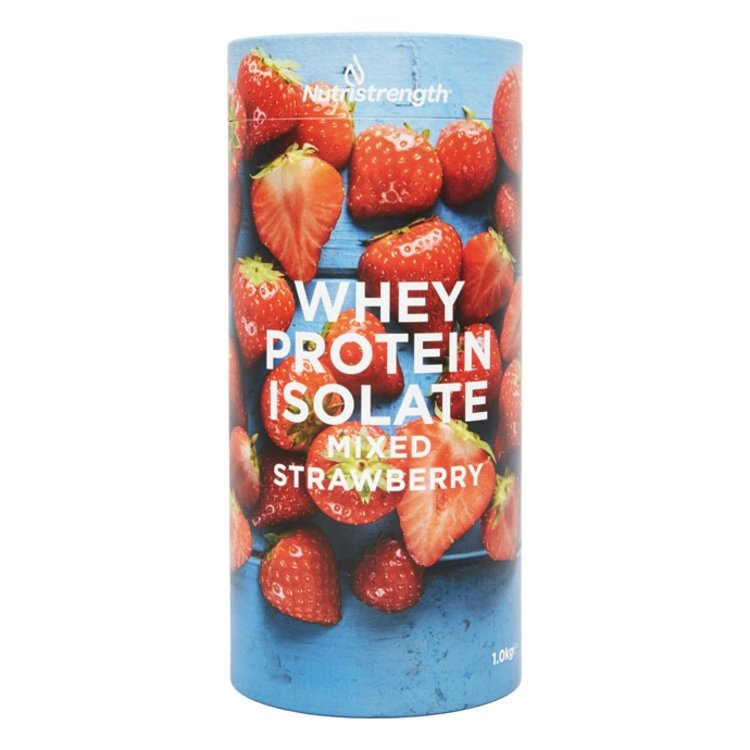 1kg Mixed Strawberry Whey Protein Isolate with Plant-Based Sweeteners
