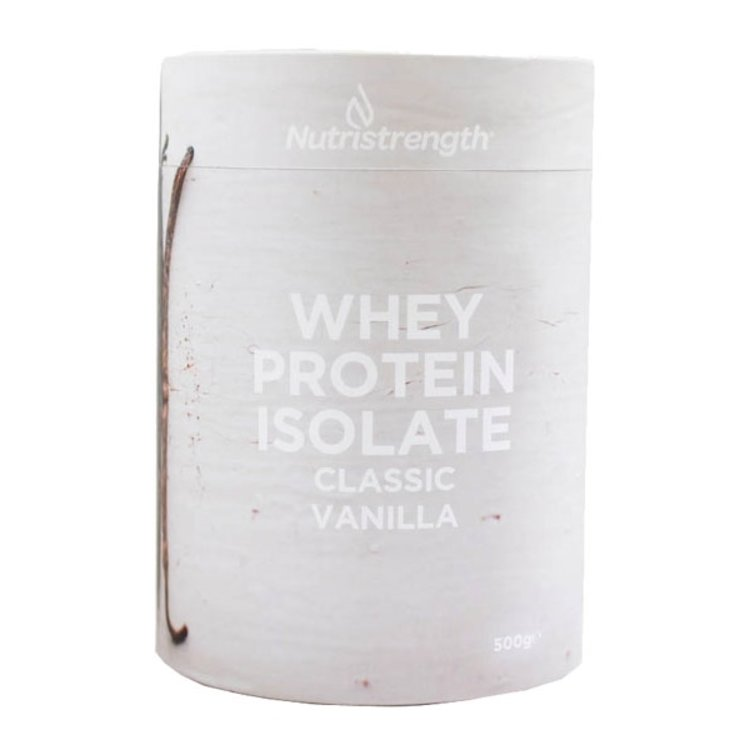 500g Classic Vanilla Whey Protein Isolate with Plant-Based Sweeteners