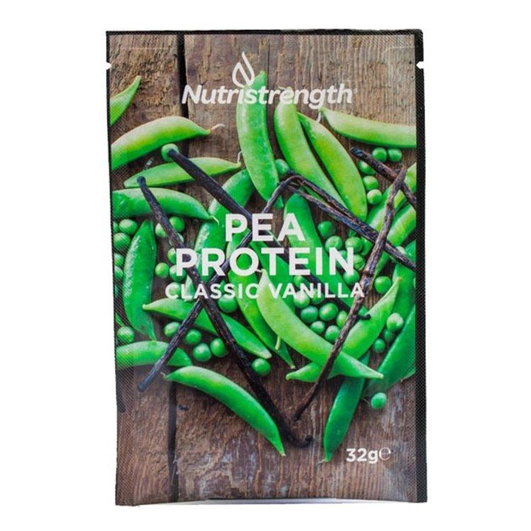 12 Vegan 'Clasic Vanilla' Pea Protein Powder Sachets (12 x 32g)