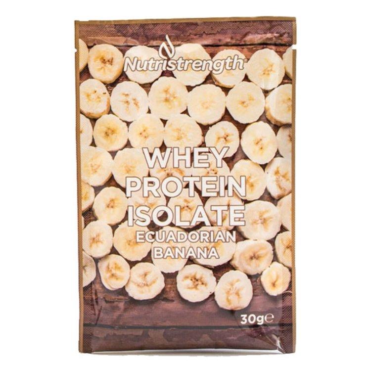 12 Ecuadorian Banana Whey Protein Isolate Sachets with Plant-Based Sweeteners (12 x 32g)