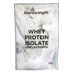 12 Unflavoured Whey Protein Isolate Sachets with Plant-Based Sweeteners (12 x 32g)