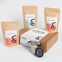 Afternoon Tea Gift Set Inc. Darjeeling, Early Grey & Rooibos Loose Leaf Teas & Infuser