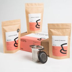 Breakfast Tea Gift Set Inc. Assam, Ceylon & Breakfast Loose Leaf Teas & Infuser