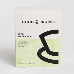Iced Green Tea Bags With Lemon Balm - 15 Tea Bags