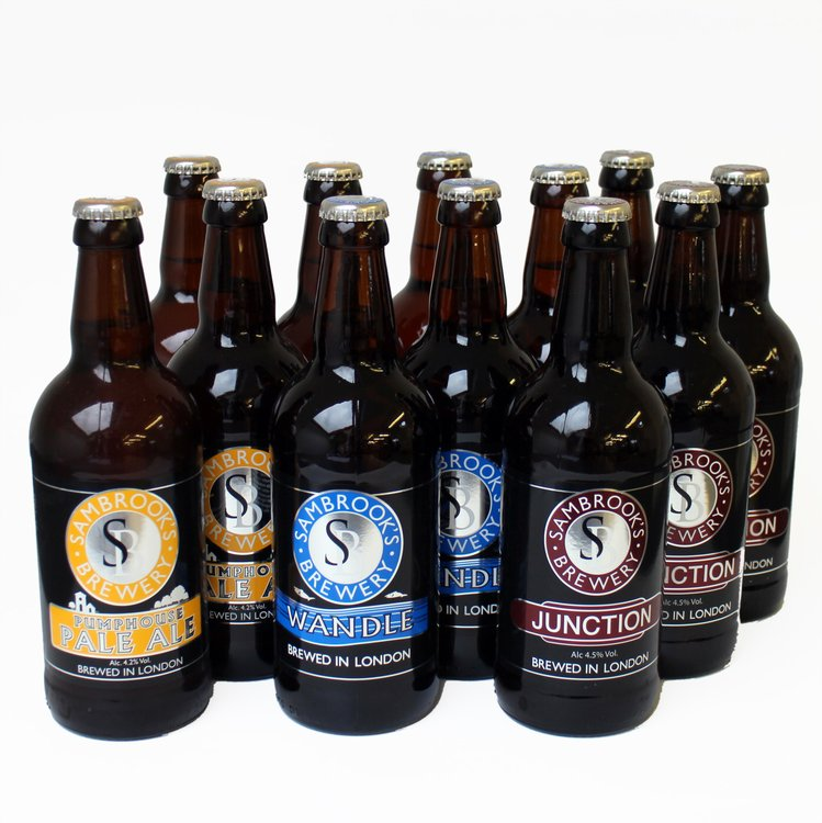 Sambrook's Craft Beer Mixed Case (Inc. Junction, Pumphouse Pale Ale & Wandle) 12 x 500ml
