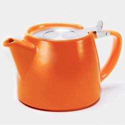 Orange 'For Life' Stump Tea Pot with Stainless Steel Infuser
