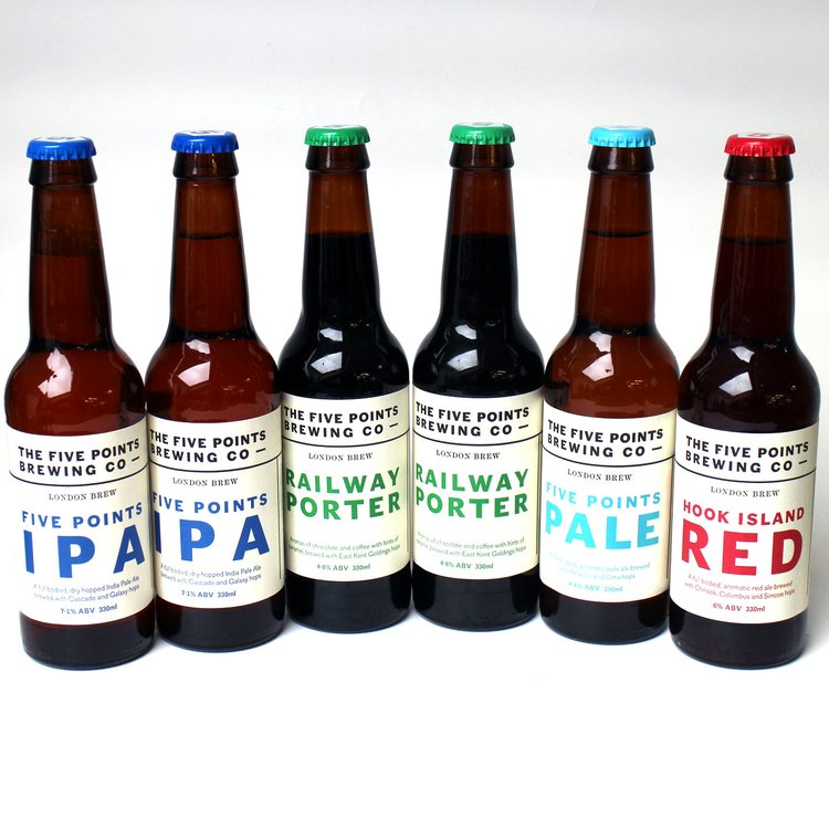 Five Points Brewery Craft Beer Mixed Case (Inc. Rye Ale, Pale Ale & Railway Porter) 6 x 330ml