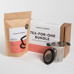 'Tea for One' Tea Gift Set with 'Brockley Breakfast' Loose Leaf Tea & Infuser