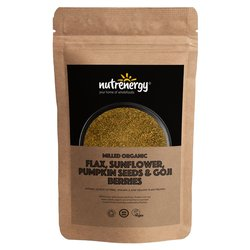 500g Organic Milled Seed Blend with Flax, Sunflower, Pumpkin Seeds & Goji Berries