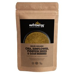 500g Organic Milled Chia Blend with Chia, Sunflower, Pumpkin Seeds & Goji Berries