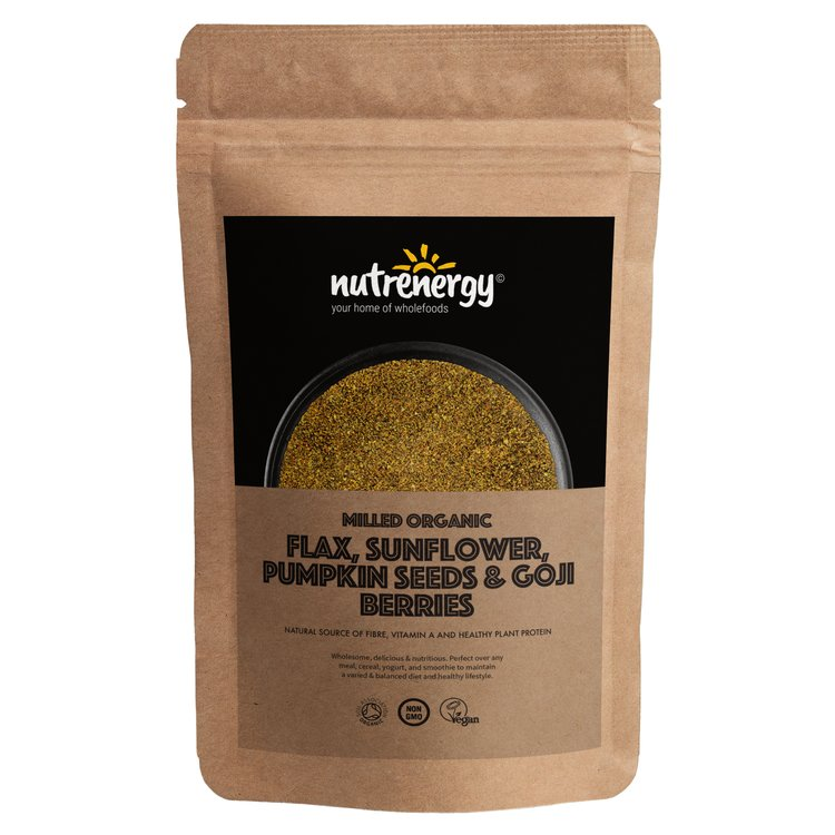 1kg Organic Milled Seed Blend with Flax, Sunflower, Pumpkin Seeds & Goji Berries