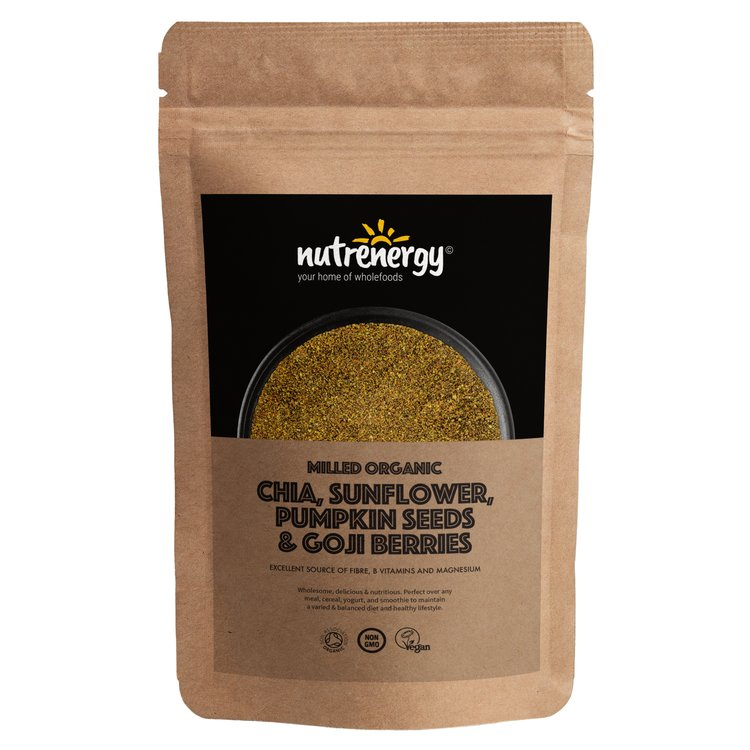 1kg Organic Milled Chia Blend with Chia, Sunflower, Pumpkin Seeds & Goji Berries