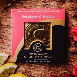 Raspberry & Baobab Artisan Raw Chocolate Bar 36g (Vegan)