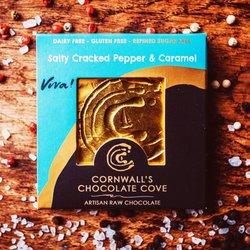 'Viva!' Salty Cracked Pepper & Caramel Artisan Raw Chocolate Bar 36g (Vegan)