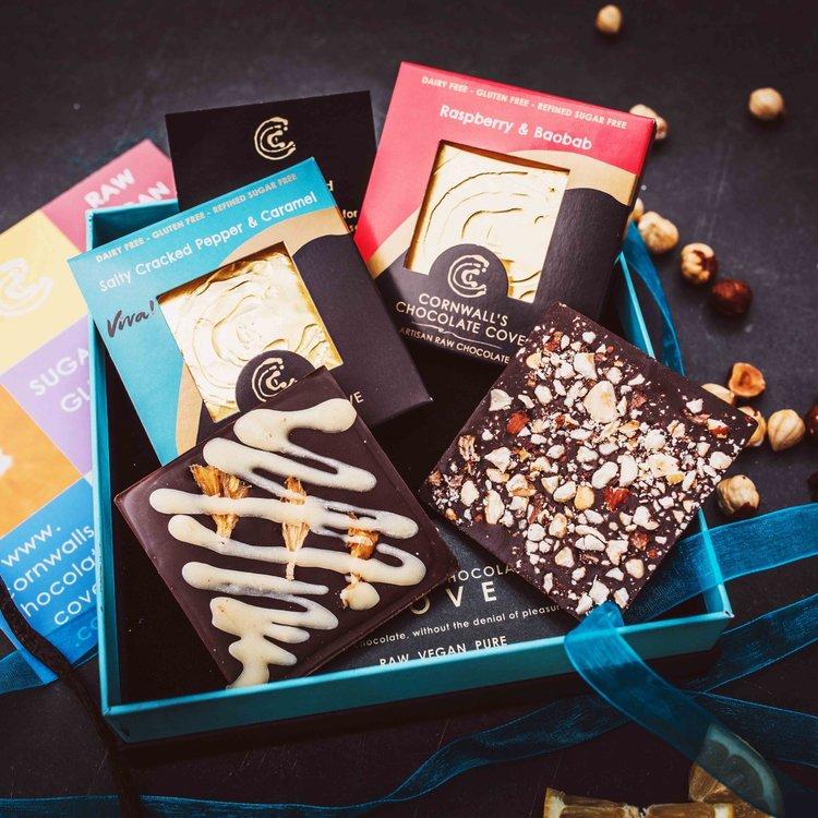 'Magnificent Four' Artisan Raw Chocolate Bar Gift Box (Vegan)