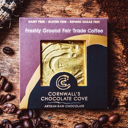 Freshly Ground Fair Trade Coffee Artisan Raw Chocolate Bar 36g (Vegan)