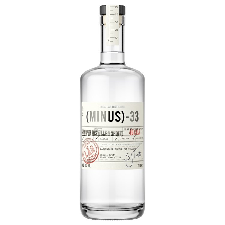 'Minus 33' Juniper Distilled Low Calorie Spirit (A Bit Like Gin) 70cl