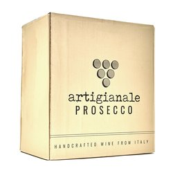 6 x 'Artigianale' Natural Prosecco Wine DOC 75cl (Handcrafted, Vegan)