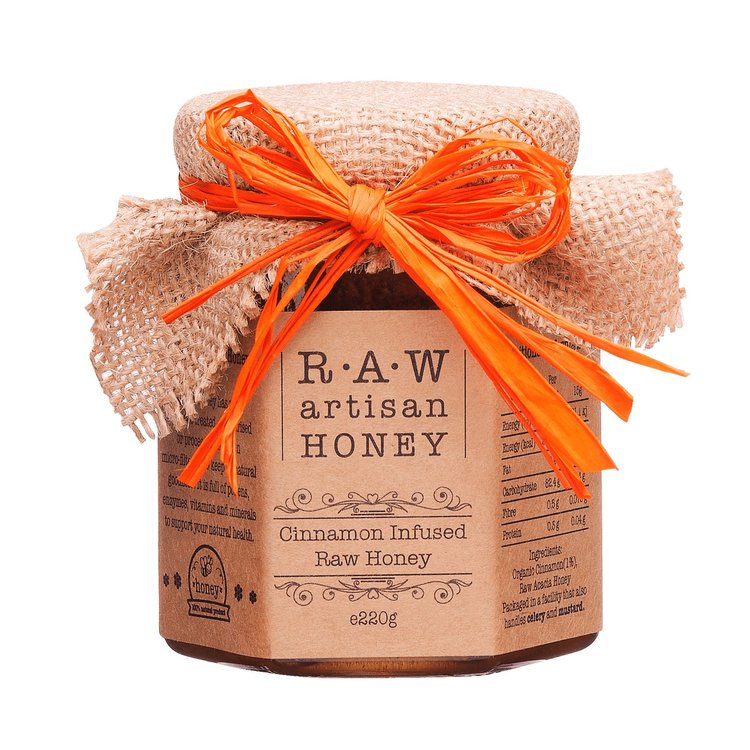 Cinnamon Infused Raw Acacia Honey 220g