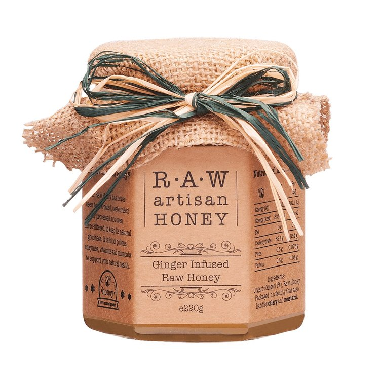 Ginger Infused Raw Sunflower Honey 220g