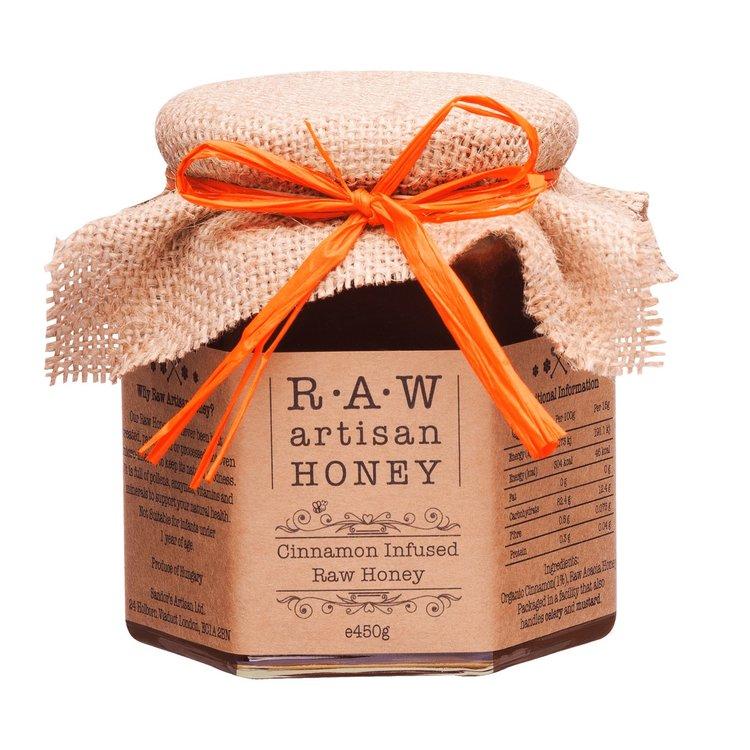 Cinnamon Infused Raw Acacia Honey 450g