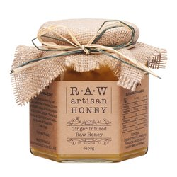 Ginger Infused Raw Sunflower Honey 450g