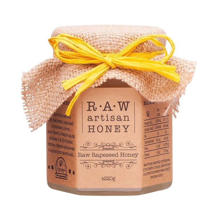 Raw Rapeseed Blossom Honey 220g