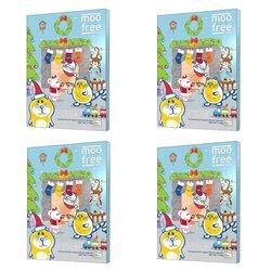 4 x Dairy-Free Chocolate Advent Calendar by Moo Free 100g (Organic, Vegan)