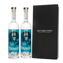 Scottish Gin Gift Box With 2 Bottles of Small Batch Colonsay 47% ABV (2 x 50cl)