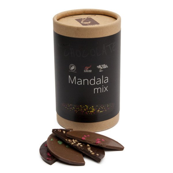 Mandala Chocolate Mix - Luxury Chocolates with Edible Flowers 200g