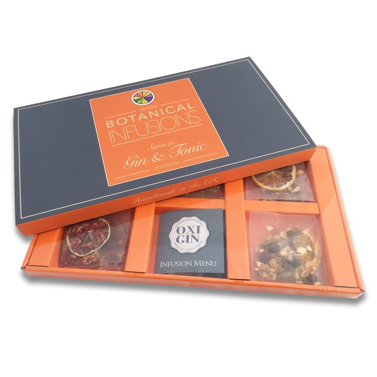 10 Mixed Botanical Infusion Bag Gift Box for Gin & Tonic (5 Flavours)