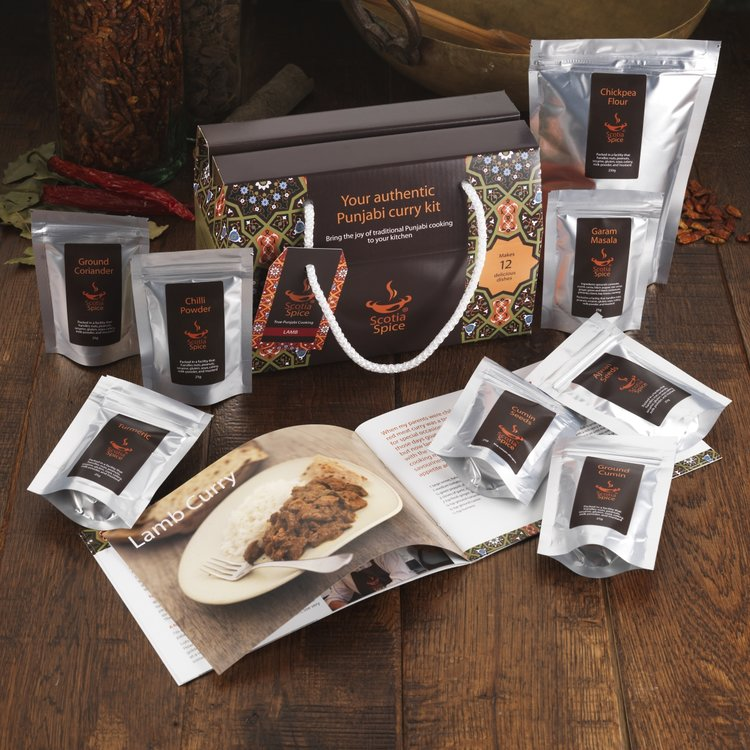 Lamb Curry Gift Kit (Inc. 7 Resealable Spice Pouches, Chickpea Flour & Recipes)