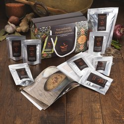 Vegetarian Curry Spice Gift Box Inc. 7 Resealable Spice Pouches, Chickpea Flour & Recipes