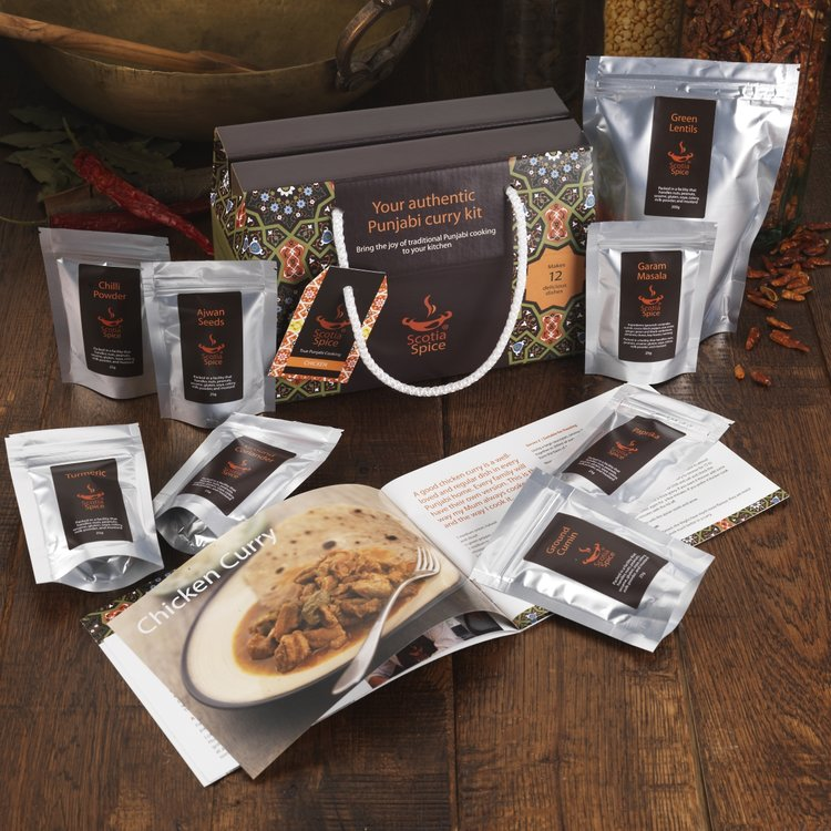 Punjabi Chicken Curry Gift Kit (Includes 8 Resealable Spices & Recipes)
