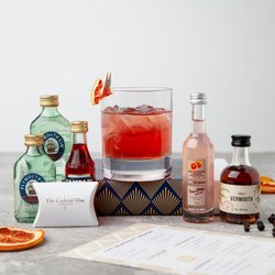 Pink Grapefruit Negroni Cocktail Gift Set Inc. Plymouth Gin, Vermouth & Pink Grapefruit Liqueur