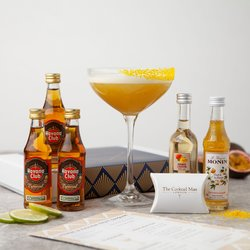 Mango & Passion Fruit Daiquiri Cocktail Gift Set Inc. Rum, Mango Liqueur, Passion Fruit Syrup & Edible Glitter