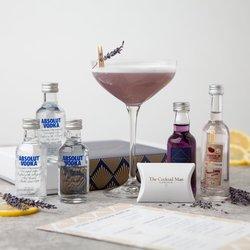 Lychee & Lavender Martini Cocktail Gift Set Inc. Vodka, Lychee Liqueur & Lavender Syrup